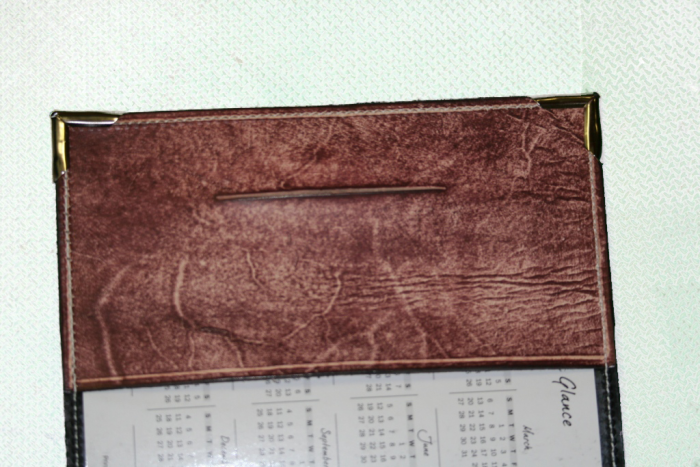 Antique Mahogany Leather Planner Book Cover 2
