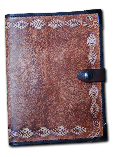 Western Navajo Leather Planner Book Cover