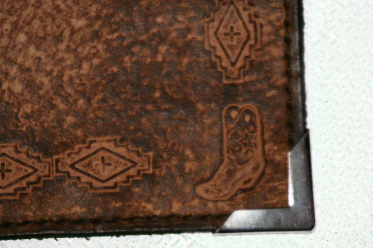 Western Navajo Leather Planner Book Cover 4