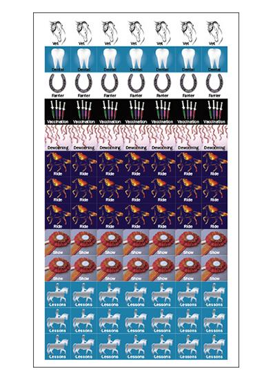 Horse Calendar Stickers