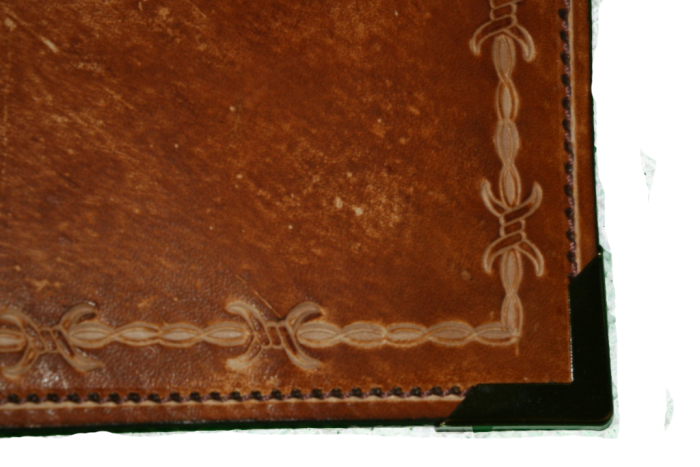 Brown Barbed Wire Leather Planner Book Cover 4